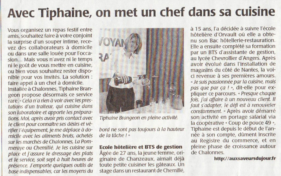Article Courrier de l'Ouest –  17/03/14